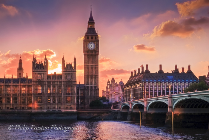 Big Ben Sunset, London