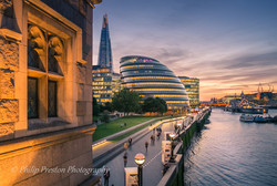 Sunset, City Hall, London