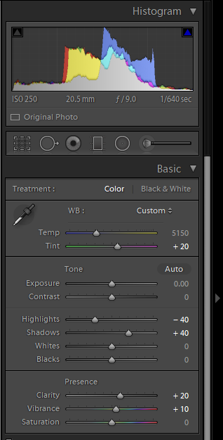 Lightroom Basic panel for photo blog - Philip Preston photography