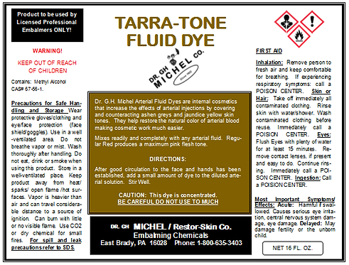 Arterial Fluid Dye - Tarra-Tone