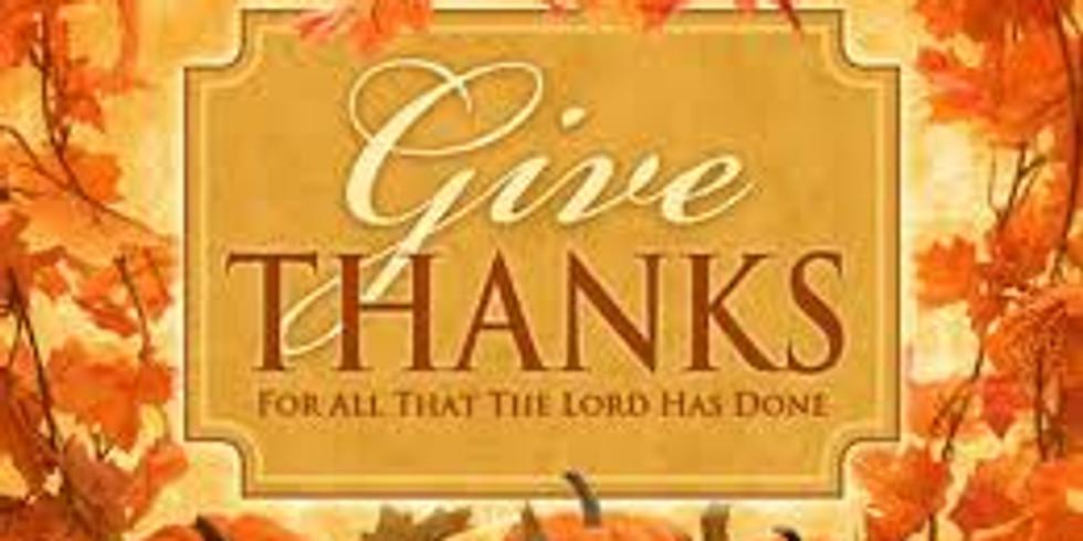 Community Worship & Celebration of Thanksgiving!