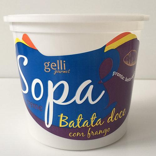 Sopa Creme de Batata Doce com Frango