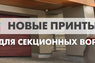 Новые древесные текстуры для цифровой печати на секционных воротах