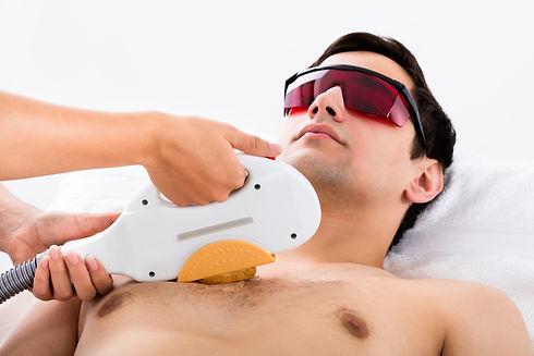 Therapist Giving Laser Epilation Treatme