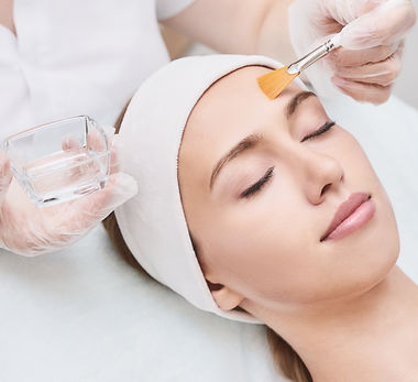 Cosmetology beauty procedure. Young woman skin care. Beautiful female person. Rejuvenation