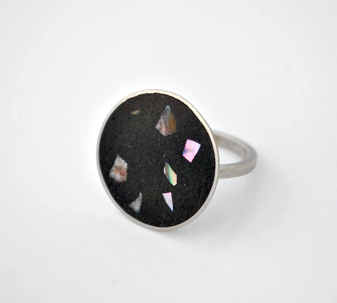 Abalone shell inlay ring_Emma Bugg