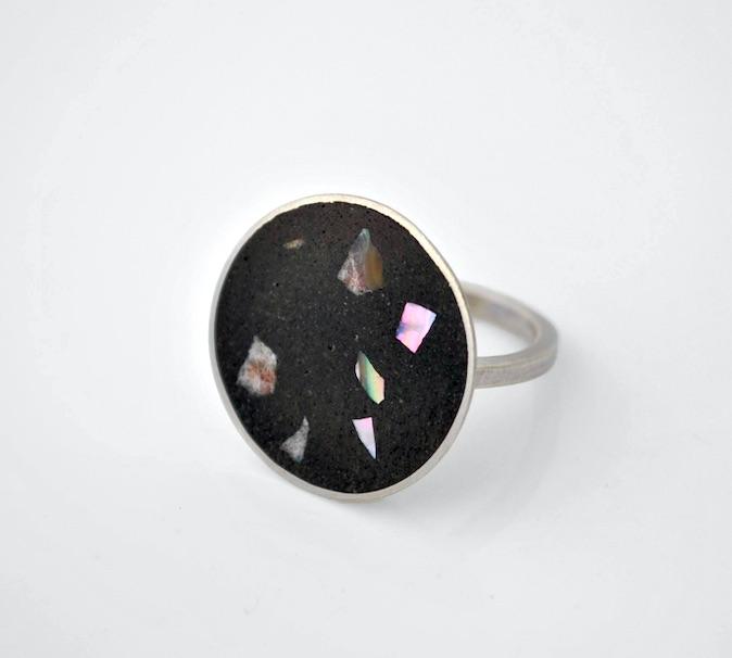 Abalone shell inlay ring_Emma Bugg