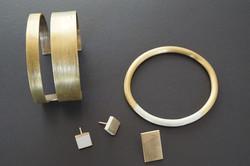 Rengin_ brass bangle , earrings