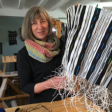 Christiane_knight_ working on lampshade_