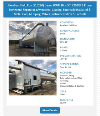 RARE 10' x 50' Treater & Separator Available