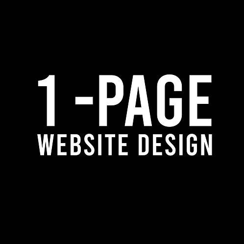 1 - Page Website Design