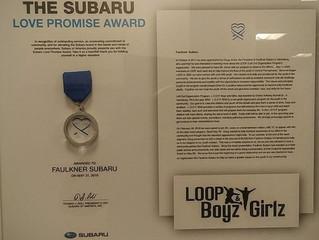 Love Award for L.O.O.P. and Faulkner