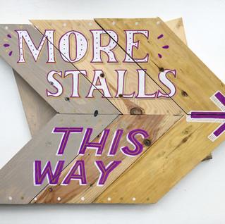 More Stalls sign