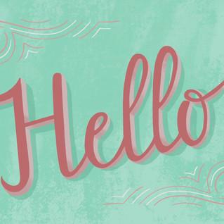 Hello lettering