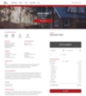 An example of a beautiful client website and personal booking engine in JANIIS