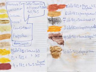 Mes expériences: Peinture à base de colle farine et de pigments