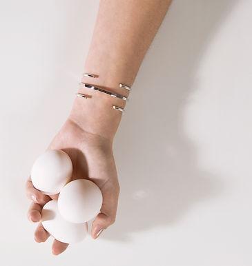pulseiras geometricas em prata