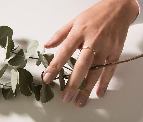 anel geometrco em prata