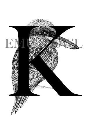 Kookaburra Letter K
