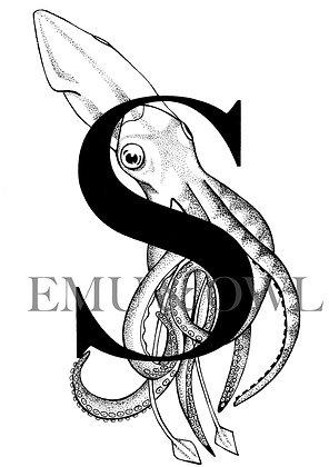 Squid Letter S
