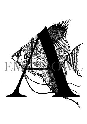 Angelfish letter A