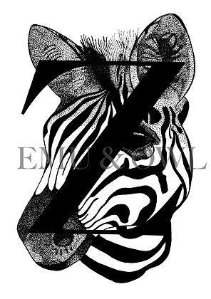 Zebra letter Z
