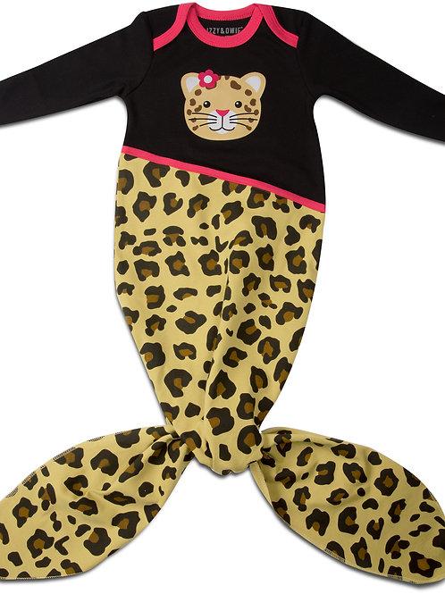 Jungle Cat Cheetah Mermaid Tail Baby Girl Gown