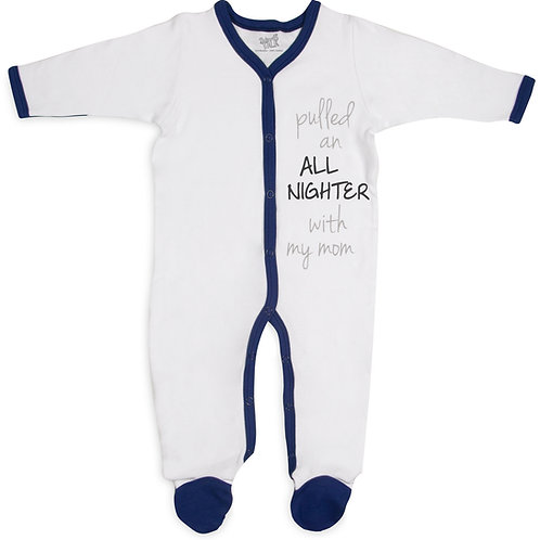 All Nighter - 0-6 Months Navy Trimmed Sleeper