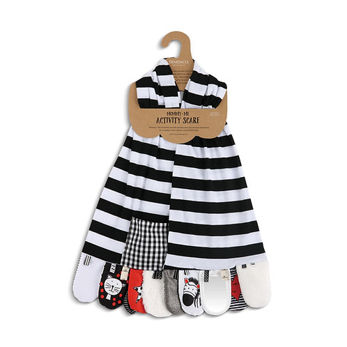 Mommy & Me Activity Scarf, Black and White