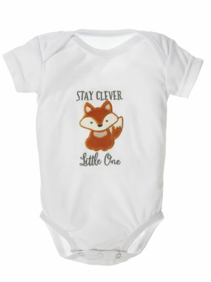 Stay Clever Little One -  Diaper Shirt