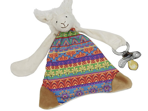 Maison Chic Lucky The Llama Pacifier Blankie