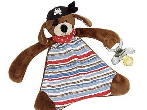 Maison Chic, Patch The Pirate Dog Paci Blankie