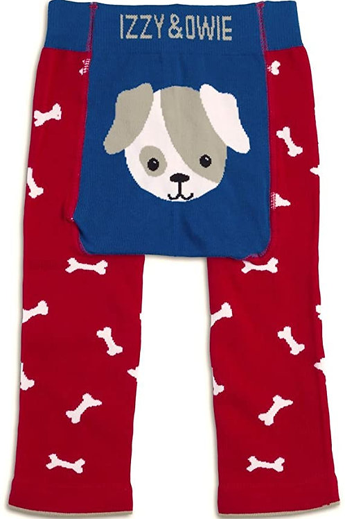 Baby Boy Leggings Dog, Red