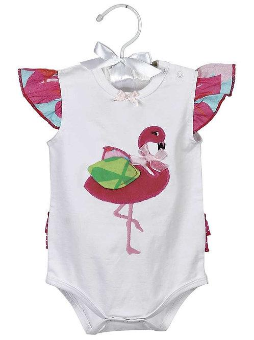 Maison Chic Bodysuit, Fannie The Flamingo