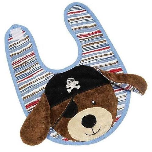 Patch the Pirate Dog Boxed Bib/Burp Set