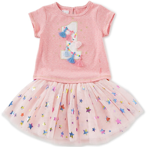 First Birthday Tee and Shirt - Birthday Outfit