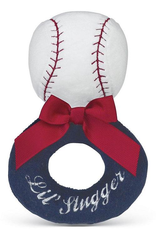 Lil' Snuggler Baseball Ring Rattle
