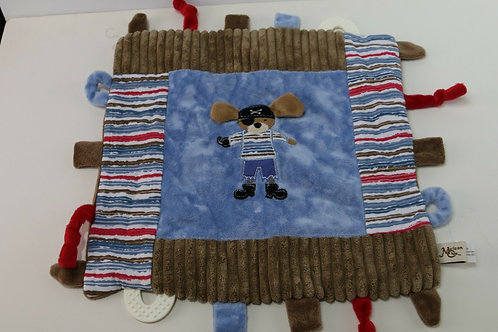 Maison Chic Multifunction Blankie, Patch the Pirate Dog