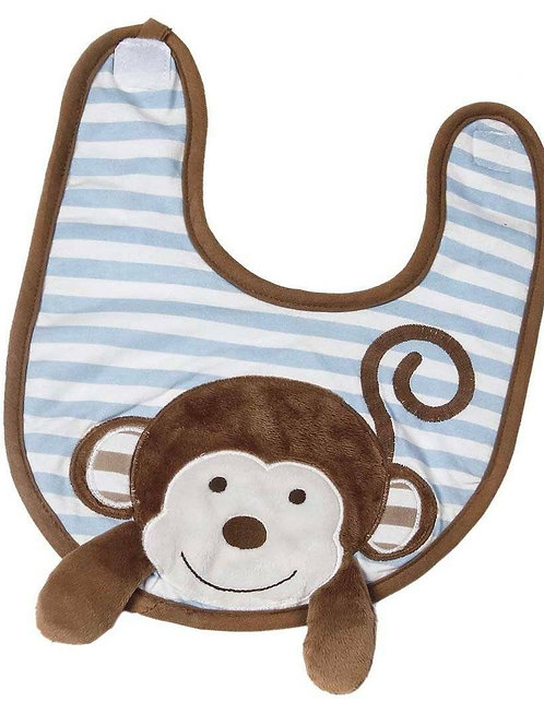Mike the Monkey Boxed Bib & Burp Gift Set