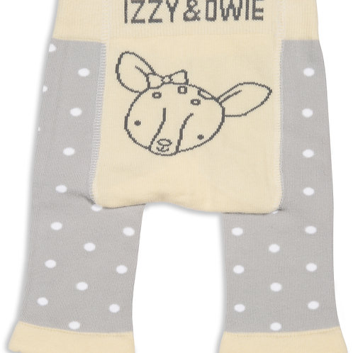 Yellow Polka Dot Deer Baby Leggings