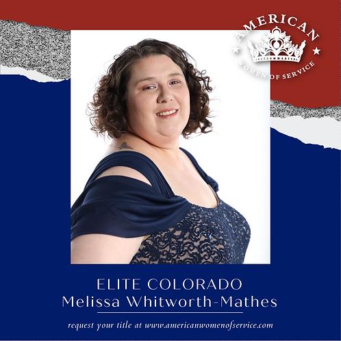 Melissa Whitworth-Mathes