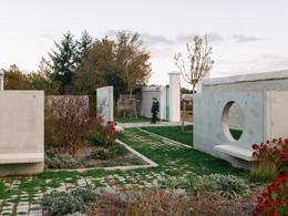 Aménagement de l'entrée du cimetière de Bléré