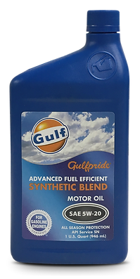 Gulfpride Advanced Fuel Efficient Synthetic Blend5W-20