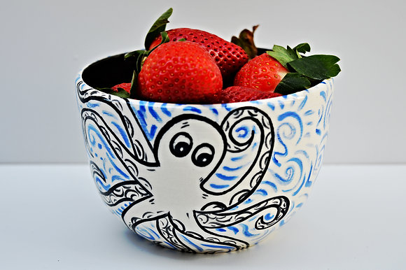 Octopus Cereal Bowl