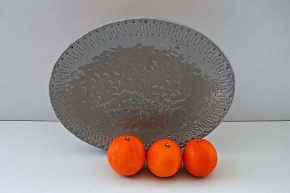 Oval Textured Platter