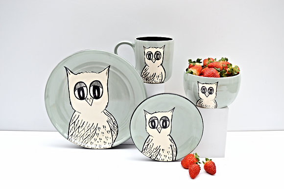 Owl Place Setting