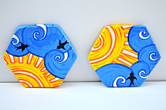 Blue Skies Coasters