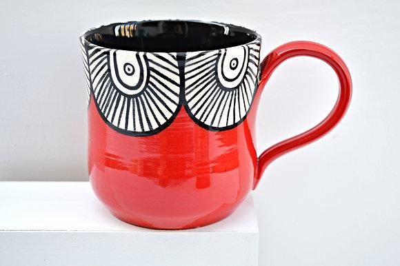Red Paisley Mug