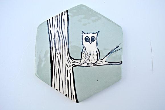 Owl + Branch Coaster