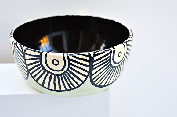 Mint Paisley Bowl